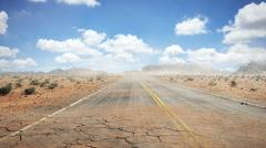 Road Desert Stock Footage