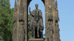 Monument of Francis I in the Old Town of Prague Stock Footage