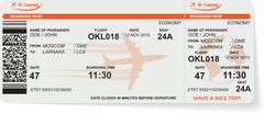Pattern of airline boarding pass ticket - stock illustration