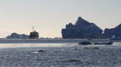 Ship Sail in Antarctica Stock Footage