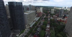 Toronto Old houses with in new buildings Toronto New vs Old Stock Footage