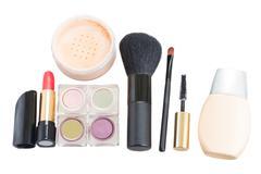 Set of make up cosmetics - stock photo