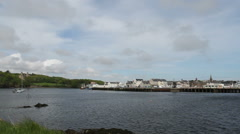 Stornoway waterfront Isle of Lewis Scotland Stock Footage