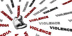 Violence Stock Illustration