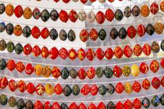 Easter Eggs Saint Sophia Sofia Cathedral Kiev Ukraine - stock photo