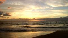 Kamaole 3 Beach on Kihei, Maui, Hawaii (aka Kam 3) Stock Footage