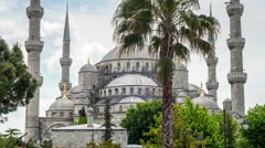 Istanbul Sultanahmet Mosque Hyperlapse Stock Footage