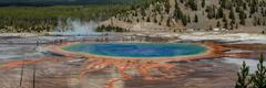 Great Prismatic Spring  Panorama - stock photo