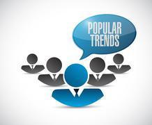 Stock Illustration of popular trends teamwork sign concept