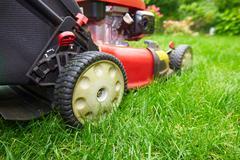 Lawn mower. - stock photo