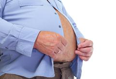 Big fat belly. - stock photo
