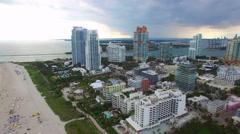South Beach Miami Beach aerial Stock Footage