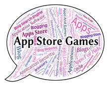 Stock Illustration of App Store Games Shows Retail Sales And Application