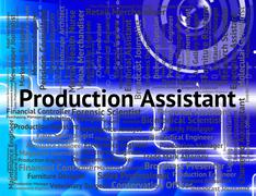 Production Assistant Indicates Employment Deputy And Occupations Stock Illustration