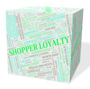 Stock Illustration of Loyalty Word Means Retail Sales And Allegiance