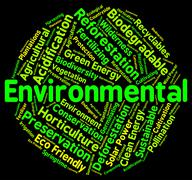 Stock Illustration of Environmental Word Indicates Earth Day And Ecological