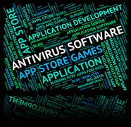 Antivirus Software Indicates Spyware Words And Unsecured Stock Illustration
