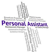 Stock Illustration of Personal Assistant Shows Jobs Employment And Secrecy