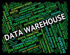 Data Warehouse Means Text Fact And Stockroom Piirros