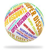 Super Discounts Represents Tremendous Offer And Wonderful Stock Illustration