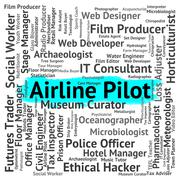 Stock Illustration of Airline Pilot Means Wingman Captain And Employment