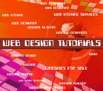 Web Design Tutorials Means Educate Development And University Stock Illustration