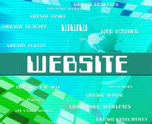 Website Word Represents Domain Online And Text - stock illustration