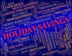 Holiday Savings Means Go On Leave And Cash - stock illustration