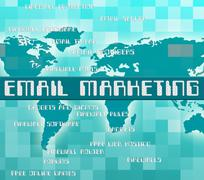Email Marketing Indicates Send Message And Communicate Stock Illustration