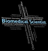 Biomedical Scientist Means Biomedicine Text And Recruitment Stock Illustration