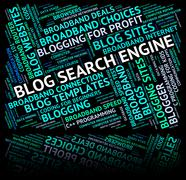Blog Search Engine Means Gathering Data And Analyse Stock Illustration