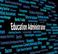 Education Administrator Means Give Lessons And Administrate Stock Illustration