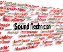 Sound Technician Shows Skilled Worker And Audio Stock Illustration
