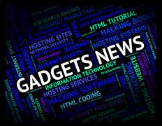 Gadgets News Shows Mod Con And Apparatus - stock illustration