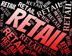 Retail Word Represents Sell Consumerism And Marketing Stock Illustration