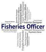 Stock Illustration of Fisheries Officer Indicates Recruitment Occupations And Job