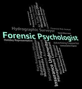 Forensic Psychologist Indicates Position Clinician And Text Stock Illustration