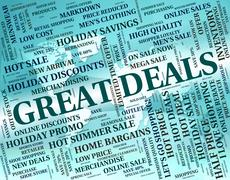 Great Deals Represents Bargain Agreement And Impressive Stock Illustration