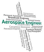 Aerospace Engineer Means Employment Mechanics And Hiring - stock illustration