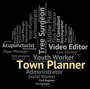 Town Planner Represents Urban Area And Administrator Stock Illustration