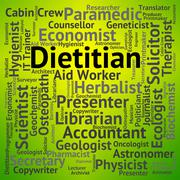 Stock Illustration of Dietitian Job Shows Position Occupations And Hiring