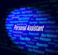 Stock Illustration of Personal Assistant Represents Career Occupations And Private