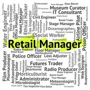 Retail Manager Represents Retailing Supervisor And Employee - stock illustration