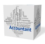 Stock Illustration of Accountant Job Represents Balancing The Books And Accountants