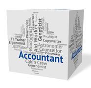 Accountant Job Represents Balancing The Books And Accountants - stock illustration