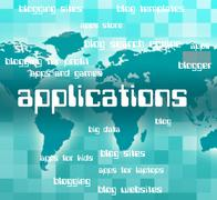 Applications Word Shows Words Program And Programs Stock Illustration