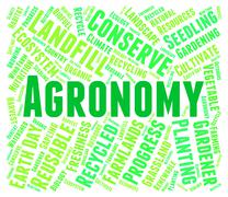 Agronomy Word Shows Farms Cultivation And Farmstead Stock Illustration
