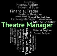 Theatre Manager Shows Proprietor Position And Managing Stock Illustration
