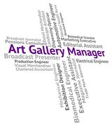 Art Gallery Manager Represents Galleries Management And Overseer Stock Illustration