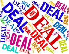 Deal Word Means Best Deals And Agreement - stock illustration
